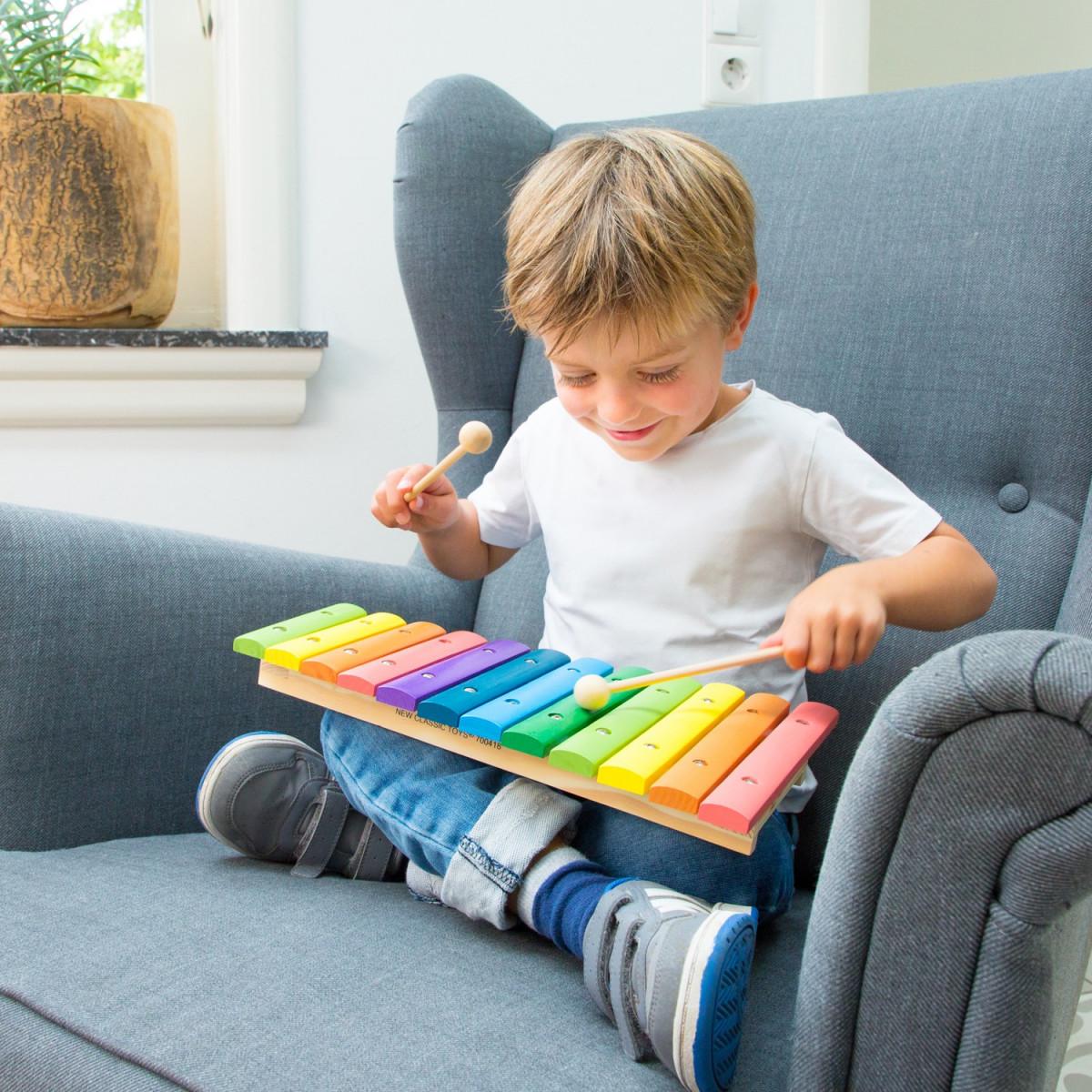 Xylophone jouet 12 tons bois coloré