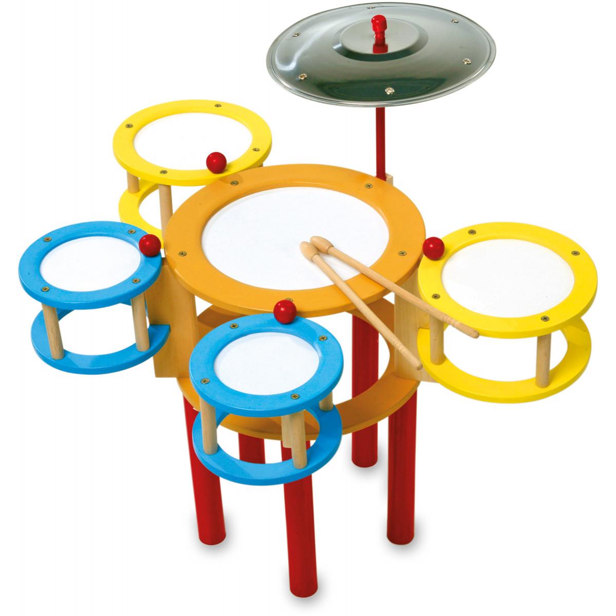 Batterie jouet en bois Multicolore