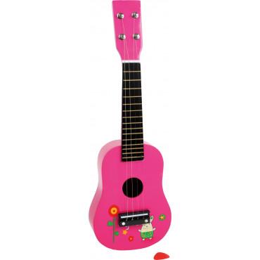 Ukulélé jouet Rose Lapin-Fleurs