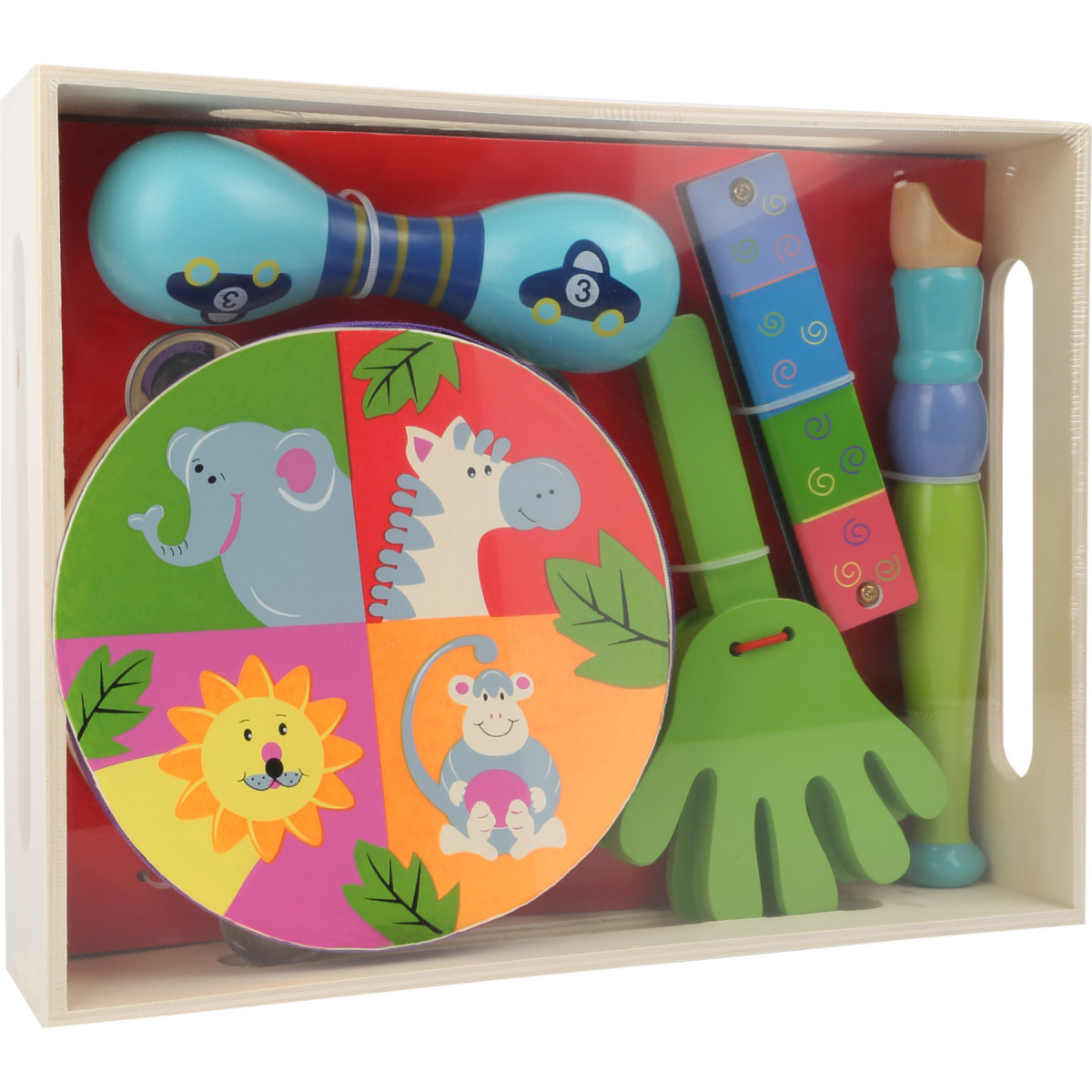 Ensemble 5 instruments bois Safari