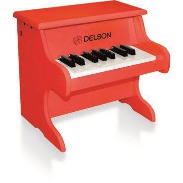 Piano jouet rouge