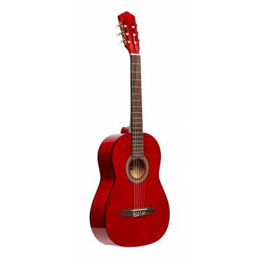 Guitare classique 4/4 tilleul rouge